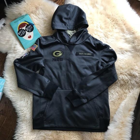 Nike Green Bay packer salute to service hoodie. M 5a5e0b0b8df470f0086c4b74 a48880003